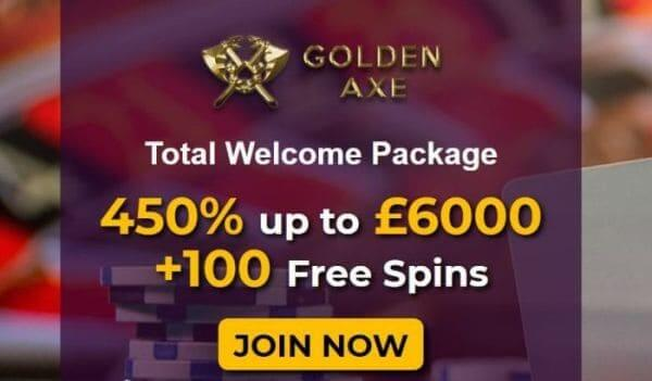 Bonus at Golden Axe Casino