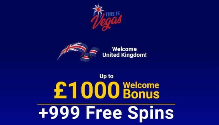 Bonus at This is Vegas Casino
