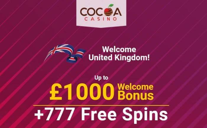 Bonus at Cocoa Casino