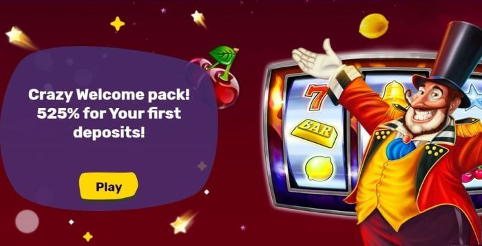 Bonus at Crazy Star Casino