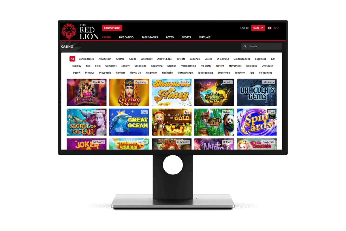 Online Games at The Red Lion Casino